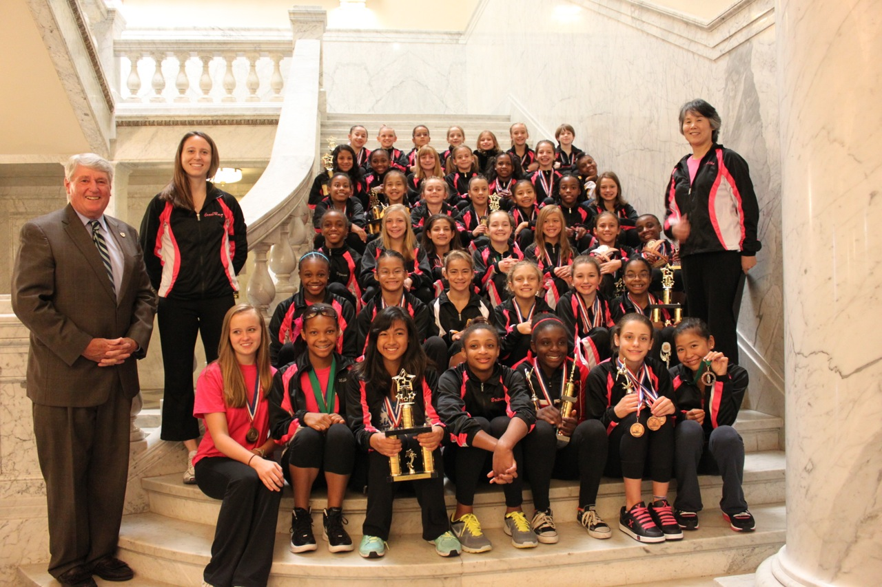Winwin gymnastics - Win Win Gymnasts Were Recognized By The Maryland General Assembly And Speaker Of The House Michael Busch For Their 4th Place Achievement Representing